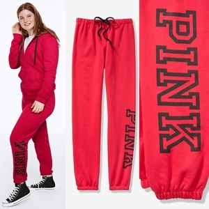 PINK VS Everyday Lounge Classic  Red Pant M